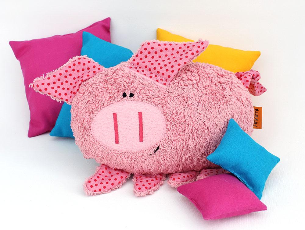 Kuscheltier Anneliese das Schwein von Annimi
