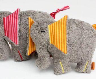 Kuscheltier Hanno der Elefant in grau
