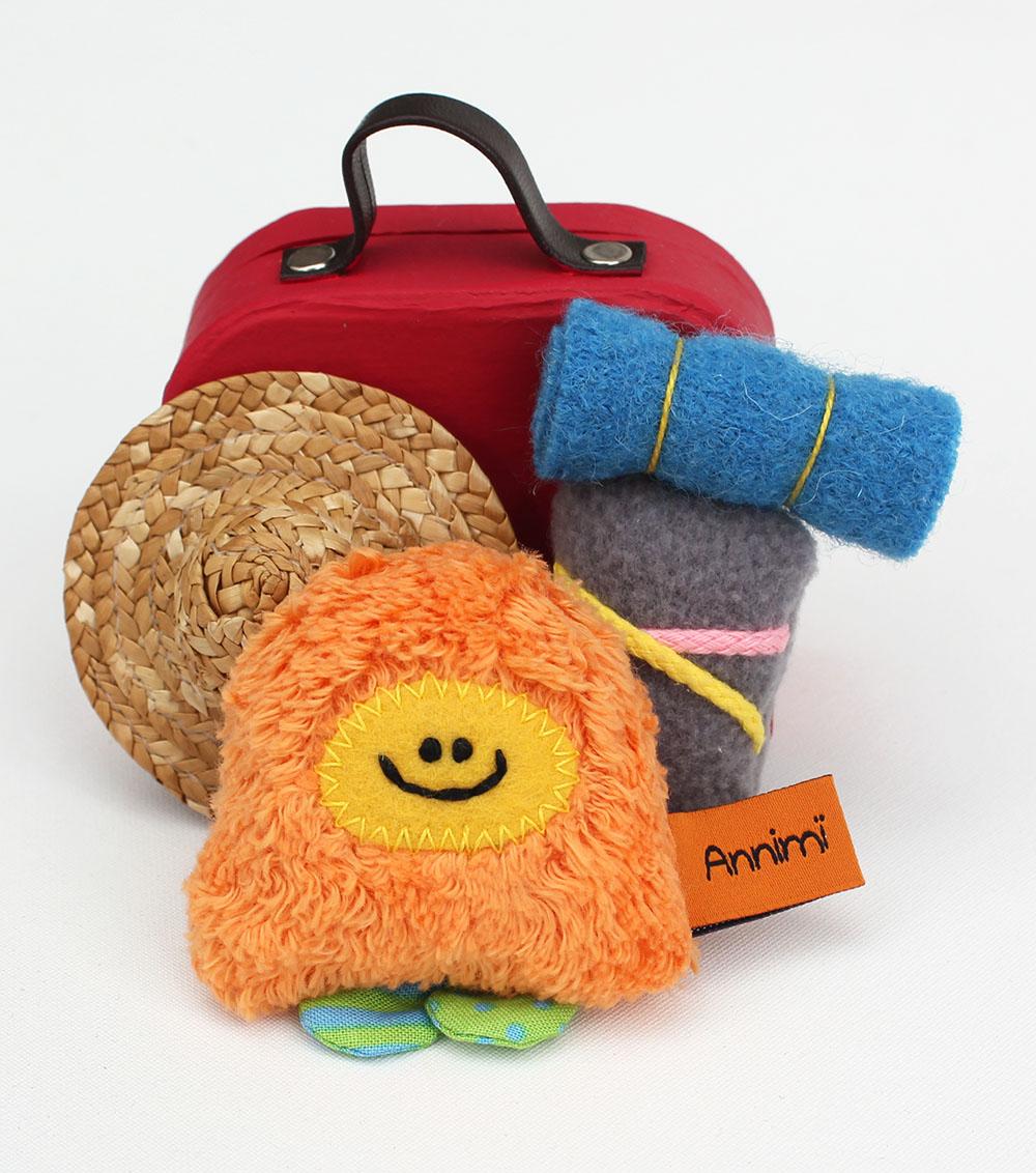 Taschenmonster mit Reisegepaeck