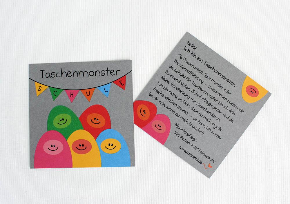 Taschenmonster Karte Schulfreund