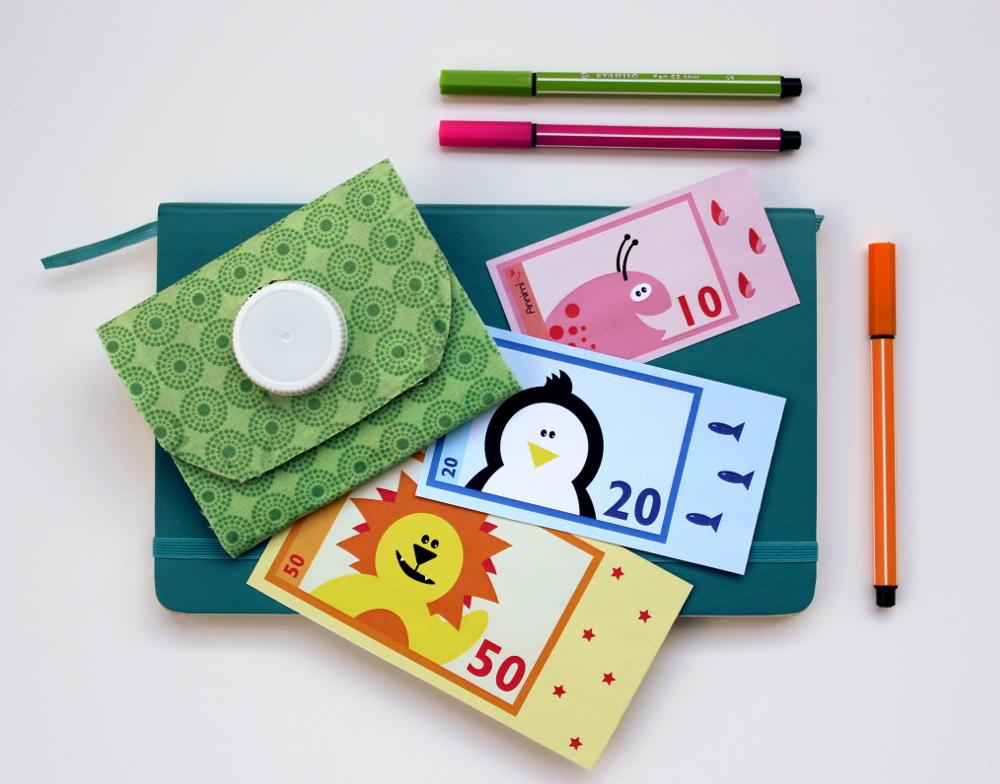 Annimi Spielgeld Scheine und DIY Portemonnaie