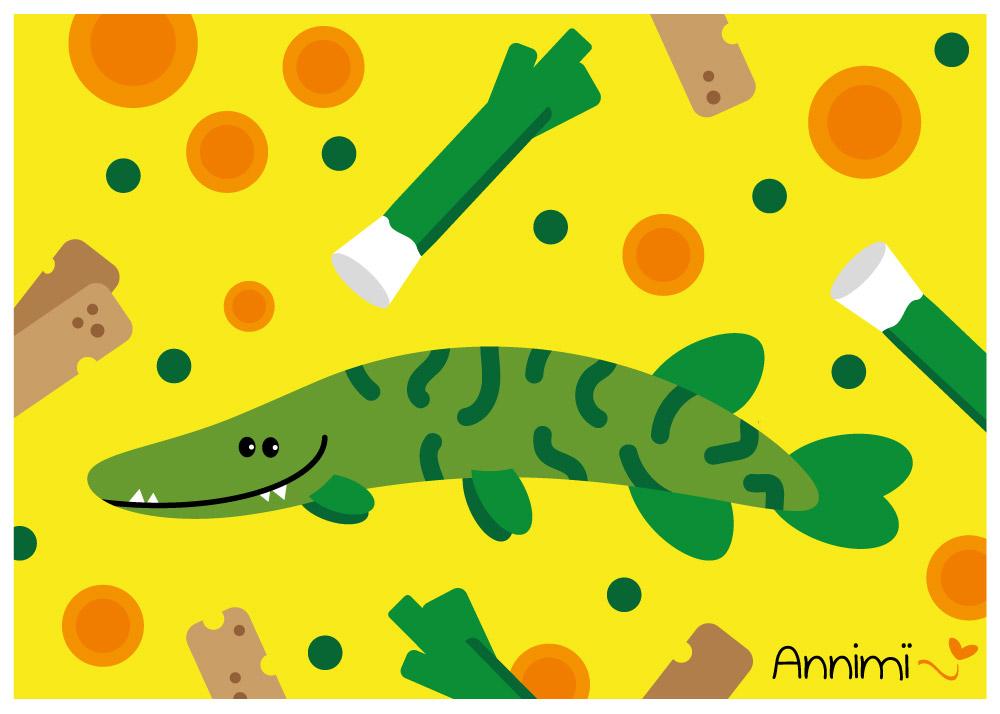 Annimi Tierillustrationen: Illustration Hechtsuppe