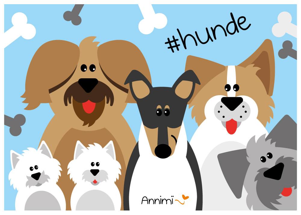 Hundebild mit Hundegruppe von Annimi