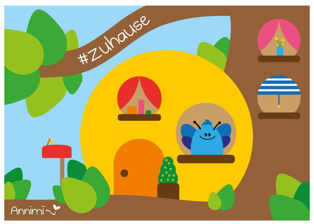 Kaefer in seinem Baumhaus - Illustrationschallenge #52goodthings von Annimi
