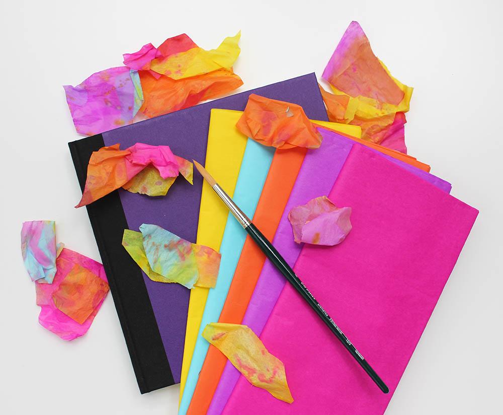 Artjournaling mit Seidenpapier - Tissue painting