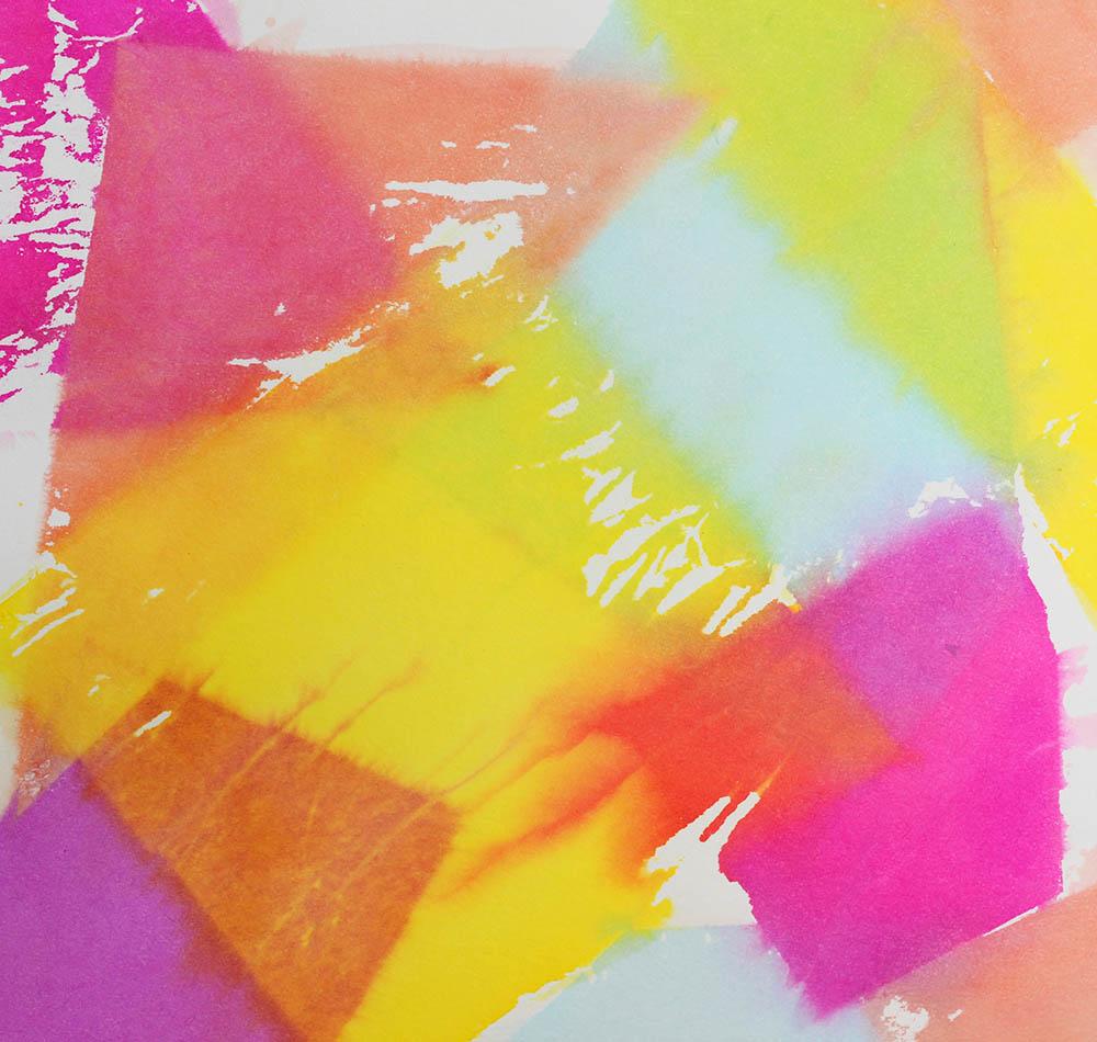 Malen mit Seidenpapier - Tissue painting
