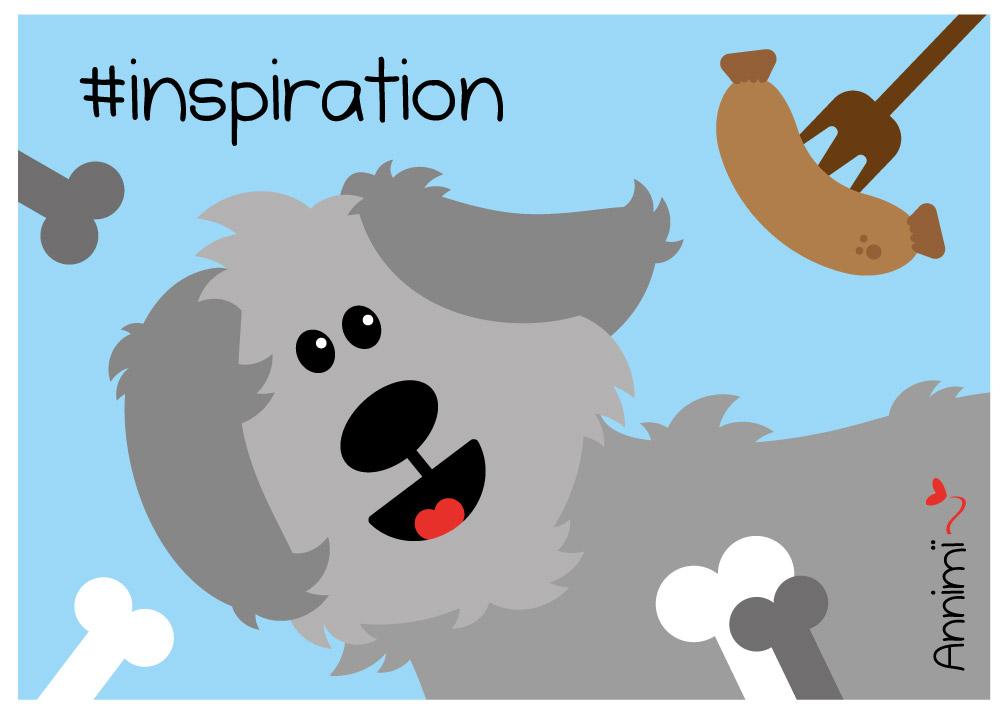 Hund mit Bratwurst - Bild für Annimi Illustrationschallenge #52goodthings Nr. 44 Inspiration