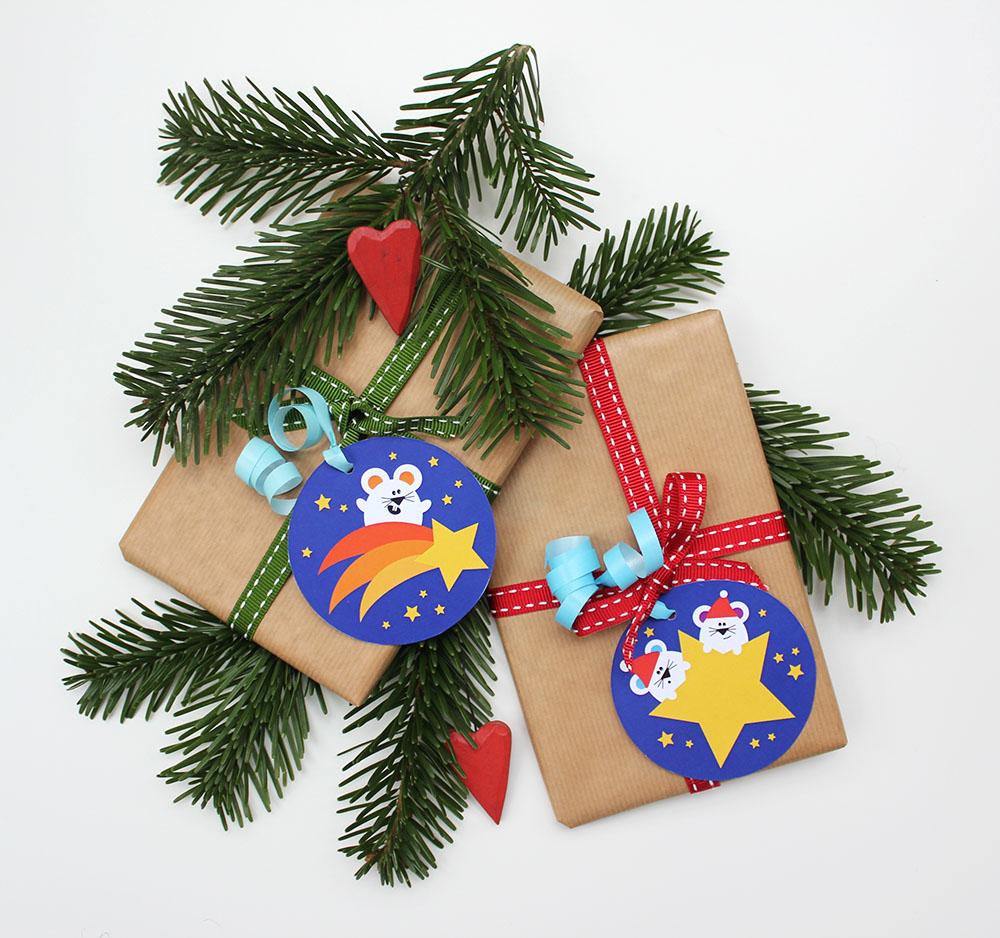 Geschenkanhaenger-Freebie von Annimi - Mäuse