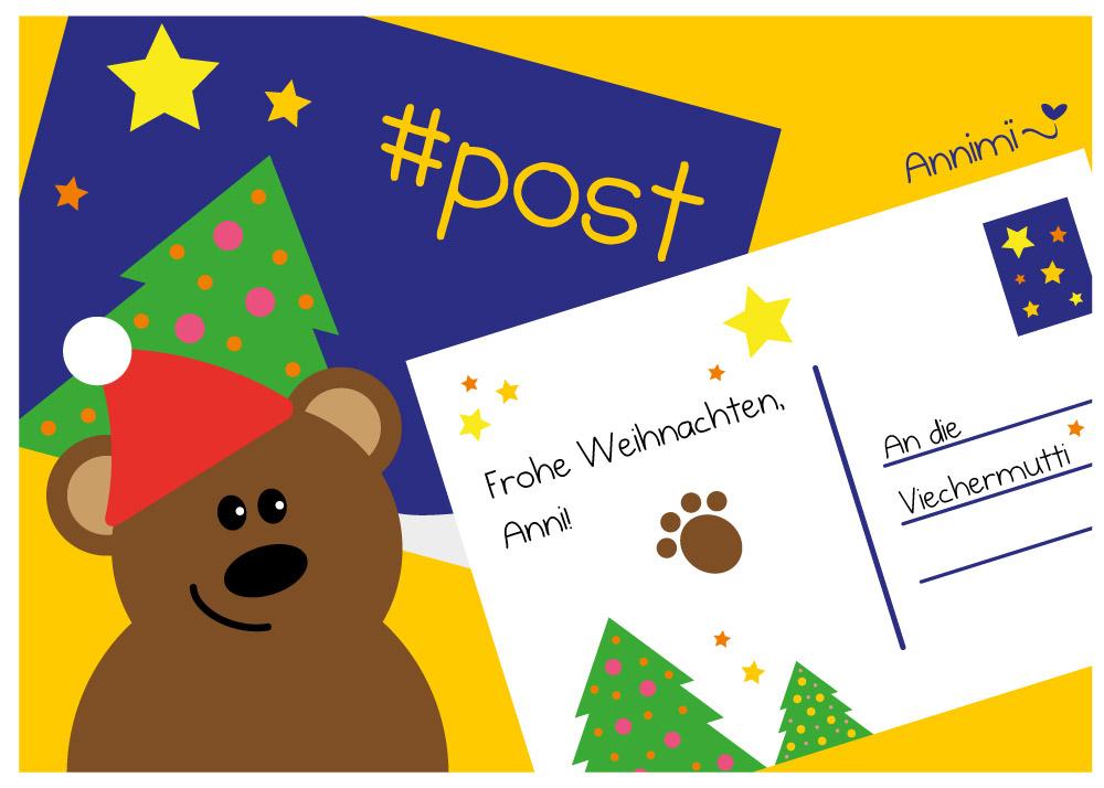 Post vom Bären - Bild für Annimi Illustrationschallenge #52goodthings Nr. 49: Post