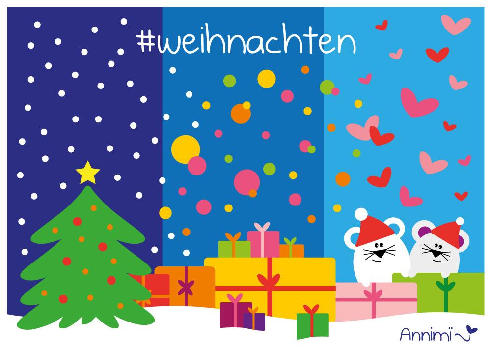 Weihnachten in drei Teilen - Bild zur Illustrationschallenge #52goodthings von Annimi