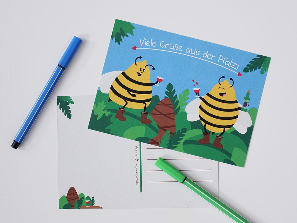 Annimi Postkarte Urlaubsgrüße aus der Pfalz