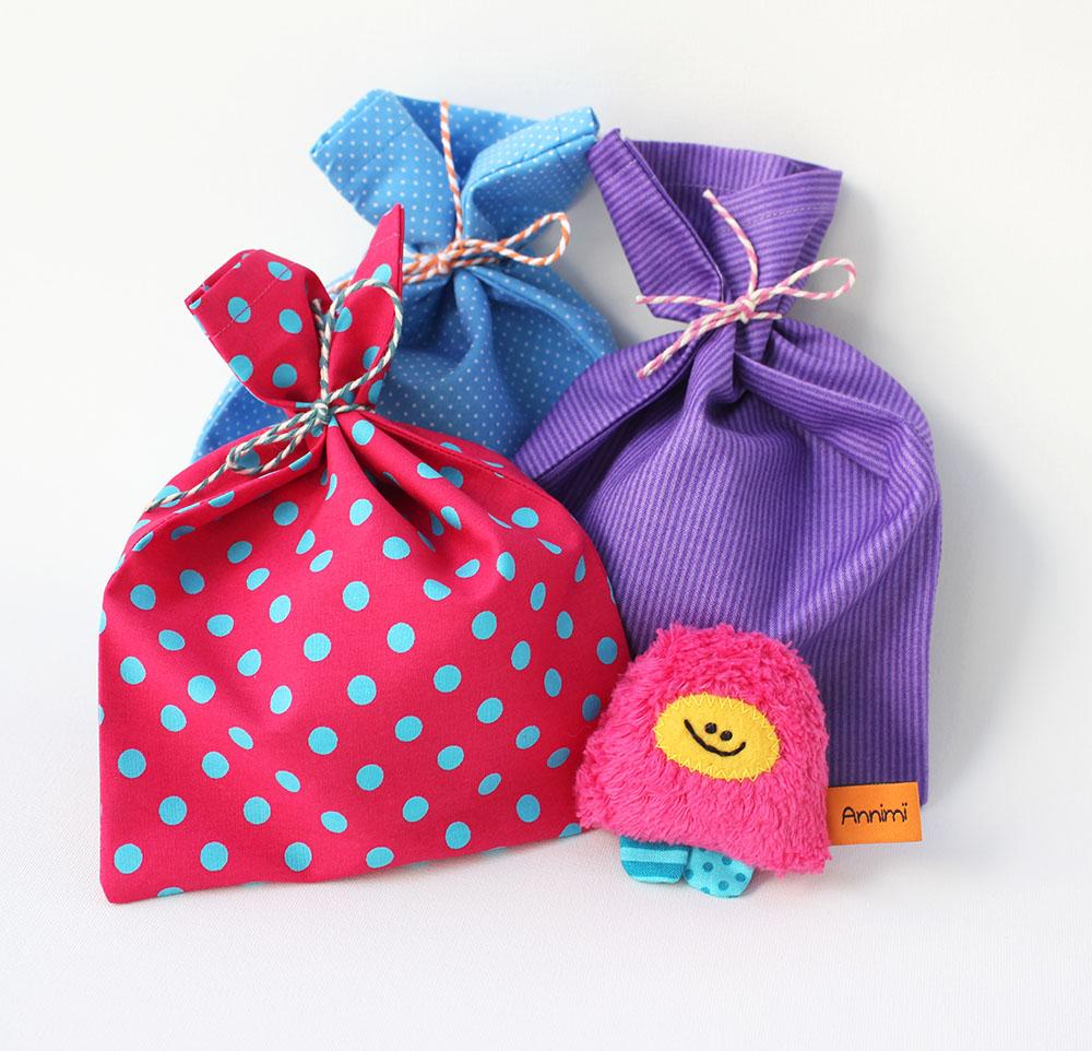 Geschenkverpackung Stoffbeutel fuer Taschenmonster von Annimi