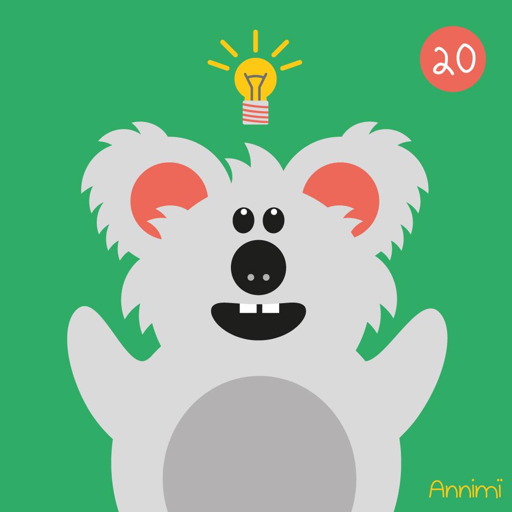 Annimi - Design Process - Koala mit Glühbirne