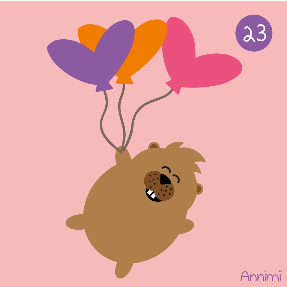Annimi - Top tip - Lemming mit Herzluftballons