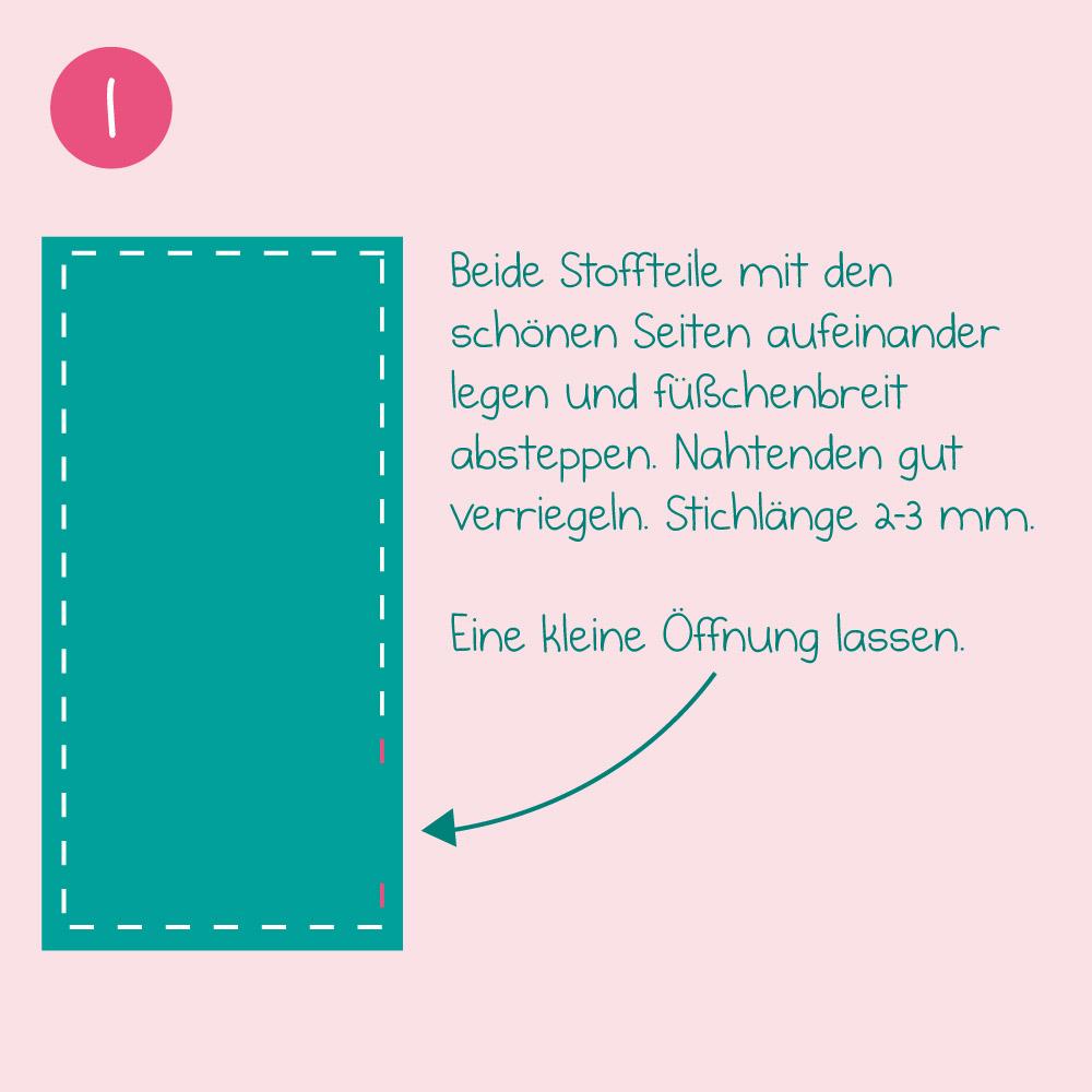 DIY-Nähanleitung Taschenmonster-Schlafsack - Schritt 1