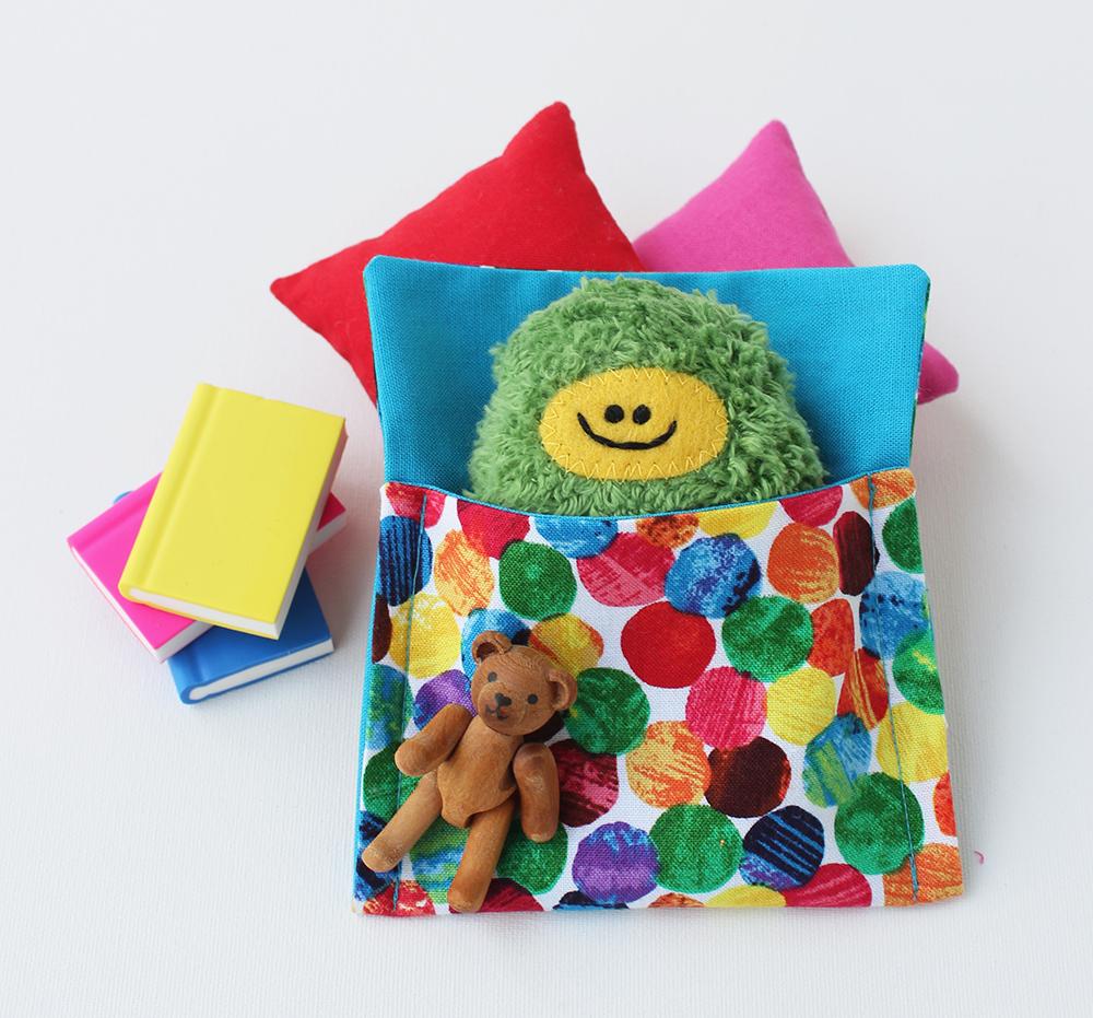 Taschenmonster von Annimi im Taschenmonster-Schlafsack