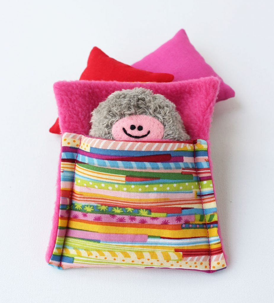 Taschenmonster-Schlafsack mit gemütlichem Fleece