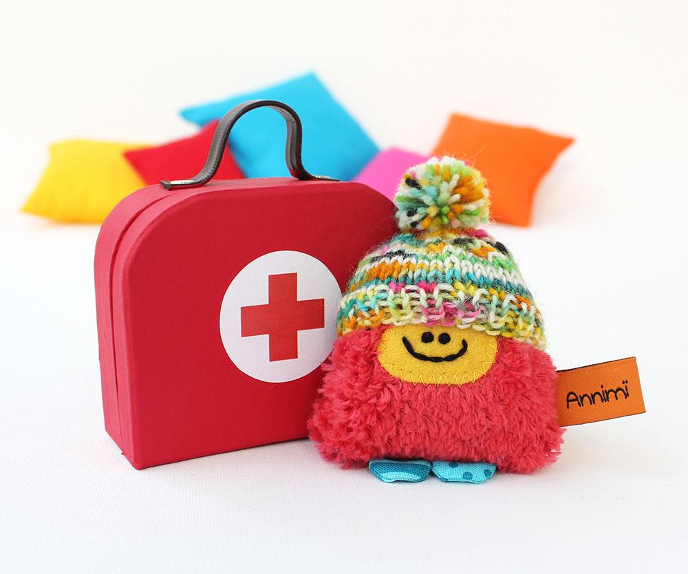 Taschenmonster Glücksbringer mit Arztkoffer